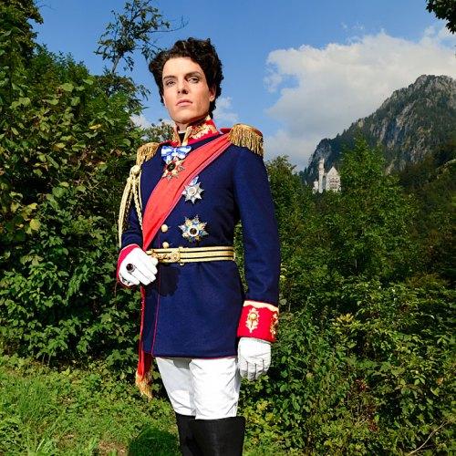 Martin Markertschlüpft als Musical-Darsteller in die Rolle des Märchenkönigs