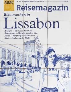 Cover-Puzzle: Die Titelseite wurde exklusiv für das ADAC Reisemagazin von der ältesten Fliesenmanufaktur Lissabons produziert