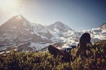 Das Verbrechen: Kaum zu glauben - vor der Kulisse von Eiger, Mönch und Jungfraujoch liegt ein Toter.