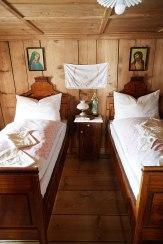 Historienlager: Schlafzimmer im Museum Huber-Hus, einem Bauernhaus von 1590.