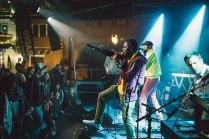 Musik ohne Grenzen: Die Gruppe Chlorine Free hat den Rapper Raashan Ahmad mitgebracht