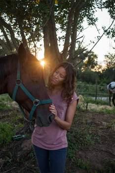 Wildschön: Lorenza genießt den Urlaub mit den Pferden. Es ist eine willkommene Abwechslung zu ihrem stressigen Job in Mailand.