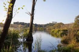 Der Lago di Mezzano dient während der Tour als Badewanne.