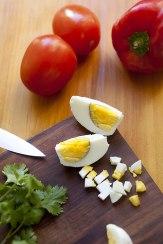 Salmorejo-Suppe mit Eiern