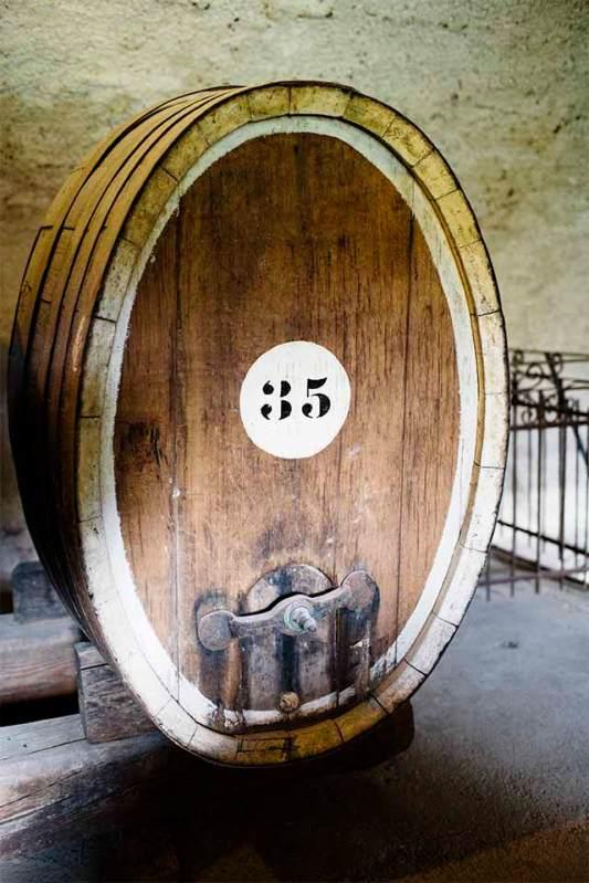 Fassungsvermögen: Der ehemalige Weinkeller im Castel Toblino.